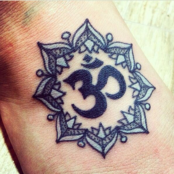 In Love With My First Tattoo Om Symbol With A Mandala Design