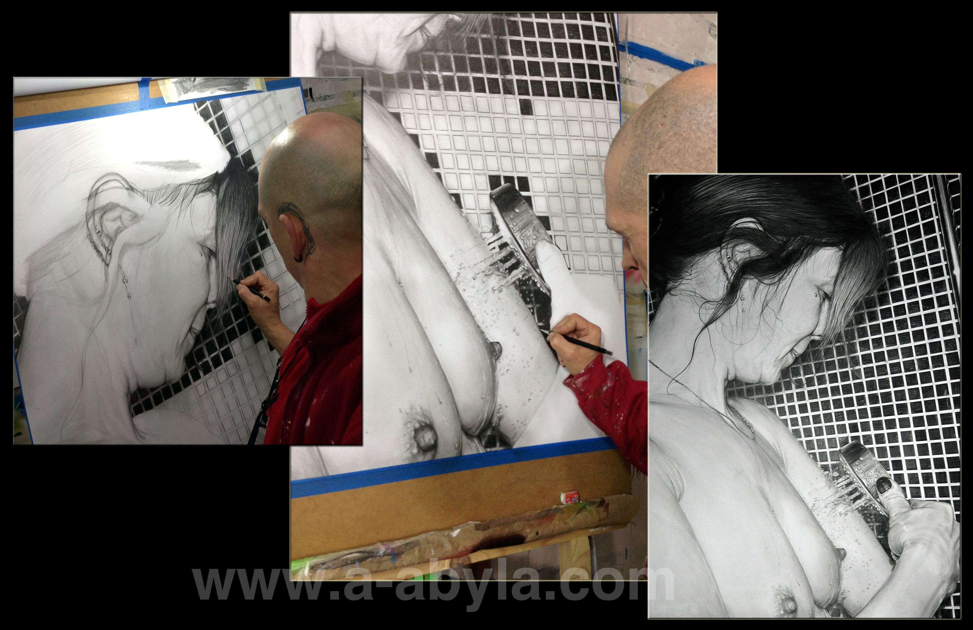tableau hyperréalisme Dessin hyperréaliste au crayon sur papier  www.a-abyla.com