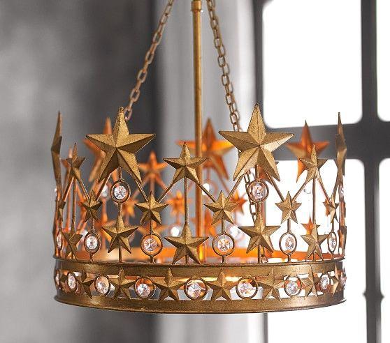 The Emily Meritt Gold Star Crown Chandelier In 2019 New