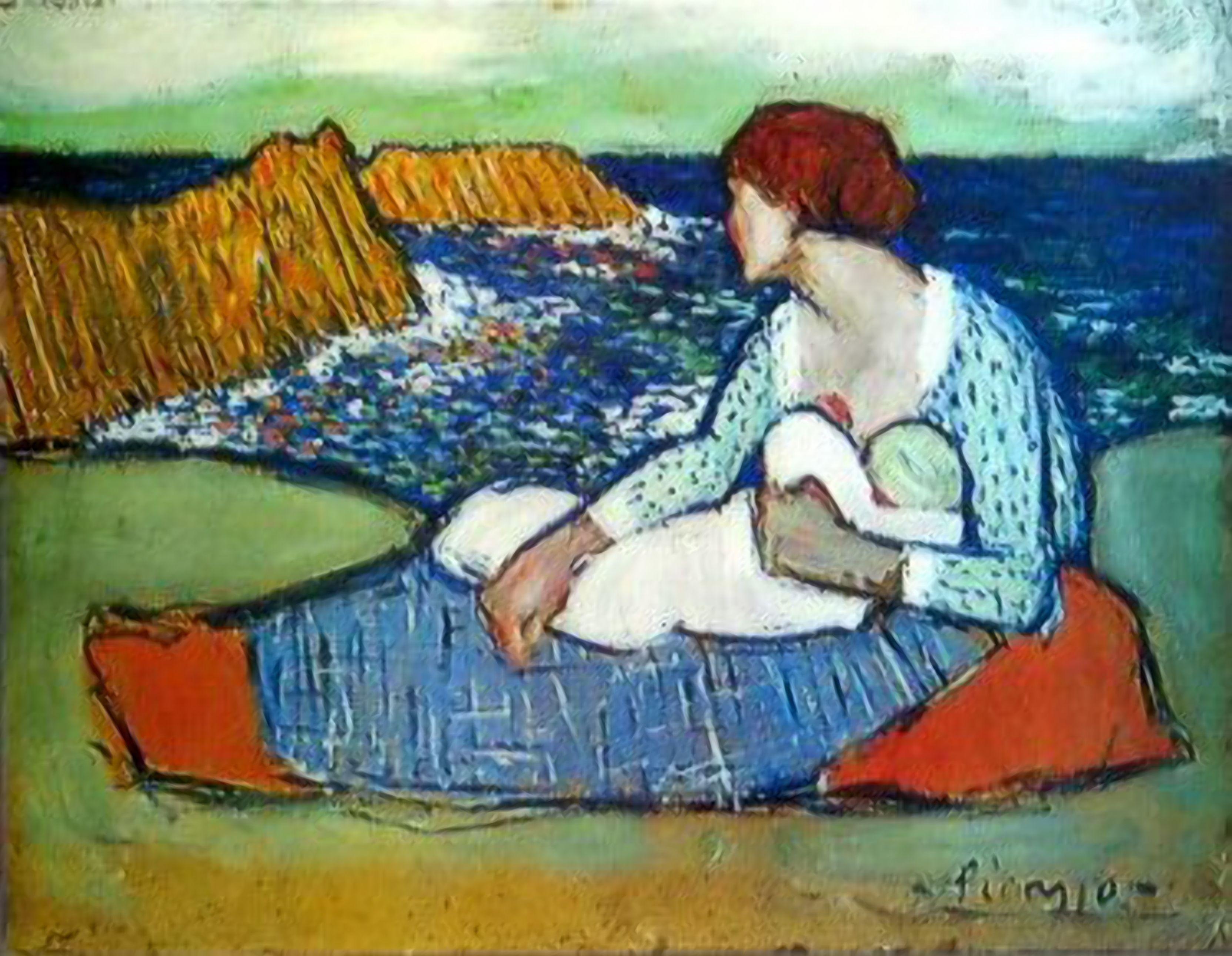 Mère et fille au bord de la mer 1901. Pablo Picasso (1881-1973)