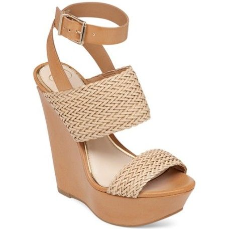 The Eila two-piece platform wedges feature woven details and a contrasting ankle strap that gives the shoe its style. Step into these wedges and you'll never want to step out of them.