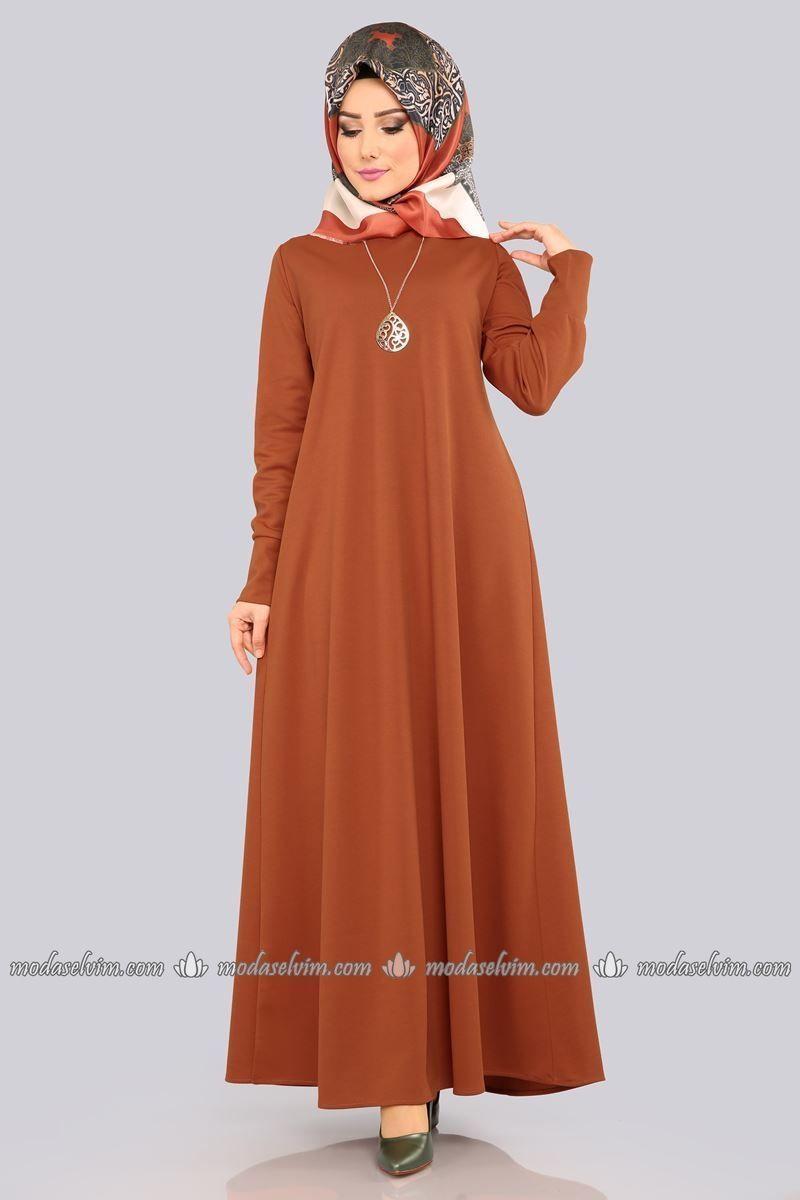 Moda Selvim Kolyeli Boydan Tesettur Elbise Edf4107 Taba Tesettur Elbise Model Tesettur Elbise Modelleri 2020 2020 Elbise Modelleri Islami Giyim Ve Elbiseler