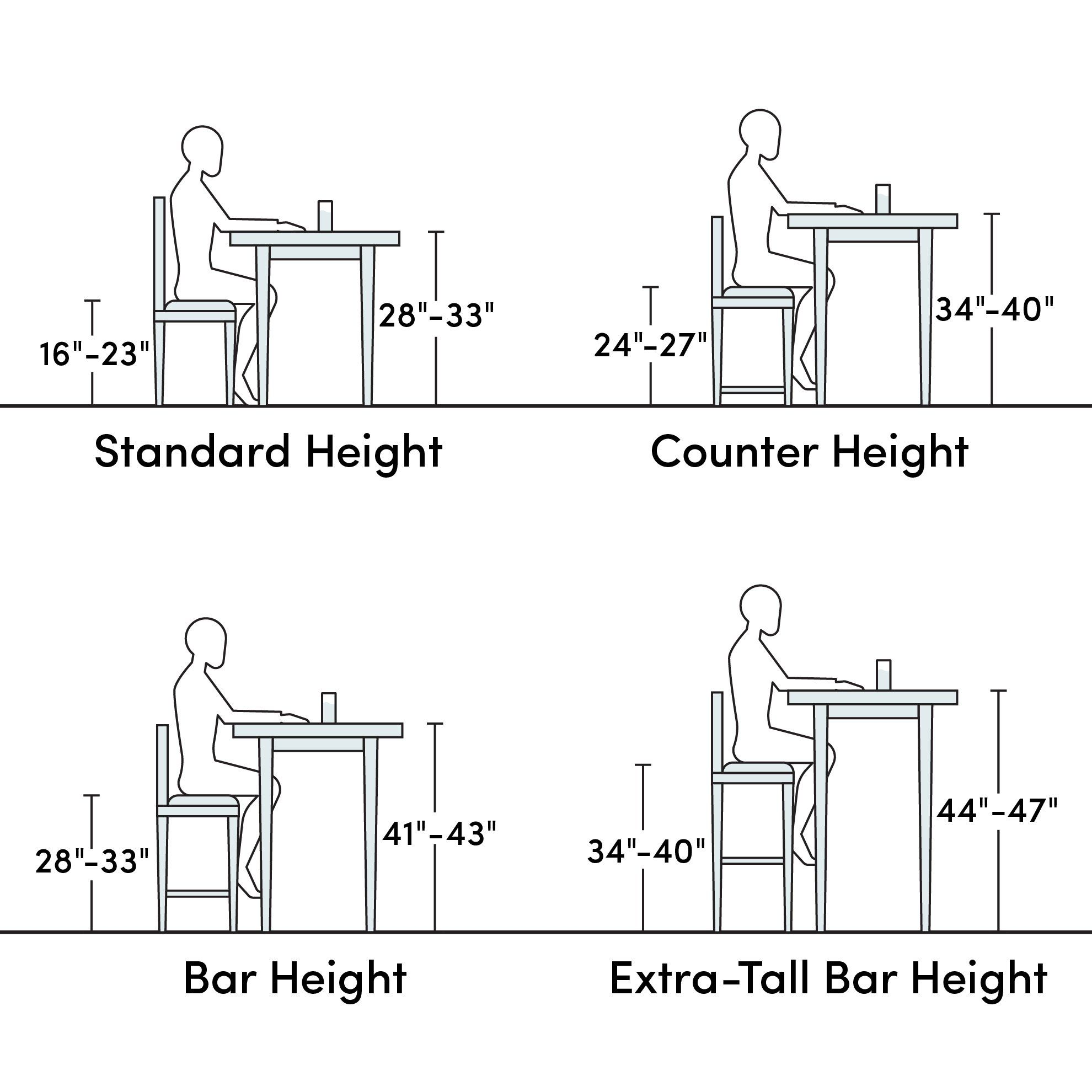 Product Fit Guide Swivel Bar Stools Solid Wood Dining Chairs Bar Stools