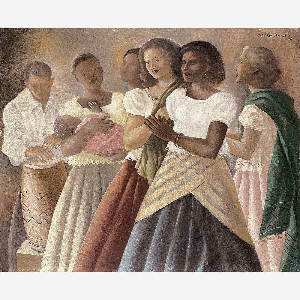Obra de Santa Rosa no leilão 09 de Dezembro de 2008 da Bolsa de Arte