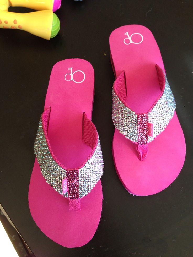 d23671dfe Grazie Flip Flop Wedge Shoes PAVE SKULLS Bling Studs Black Leather Sandal 6  - 11