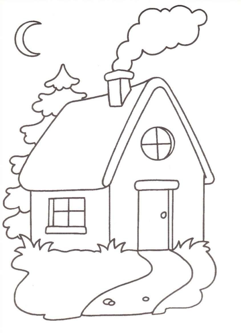 Disegni Per Bambini Piccoli Da Colorare La Casetta Houses