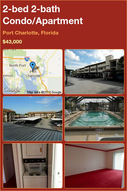 2-bed 2-bath Condo/Apartment in Port Charlotte, Florida ►$43,000 #PropertyForSale #RealEstate #Florida http://florida-magic.com/properties/3486-condo-apartment-for-sale-in-port-charlotte-florida-with-2-bedroom-2-bathroom