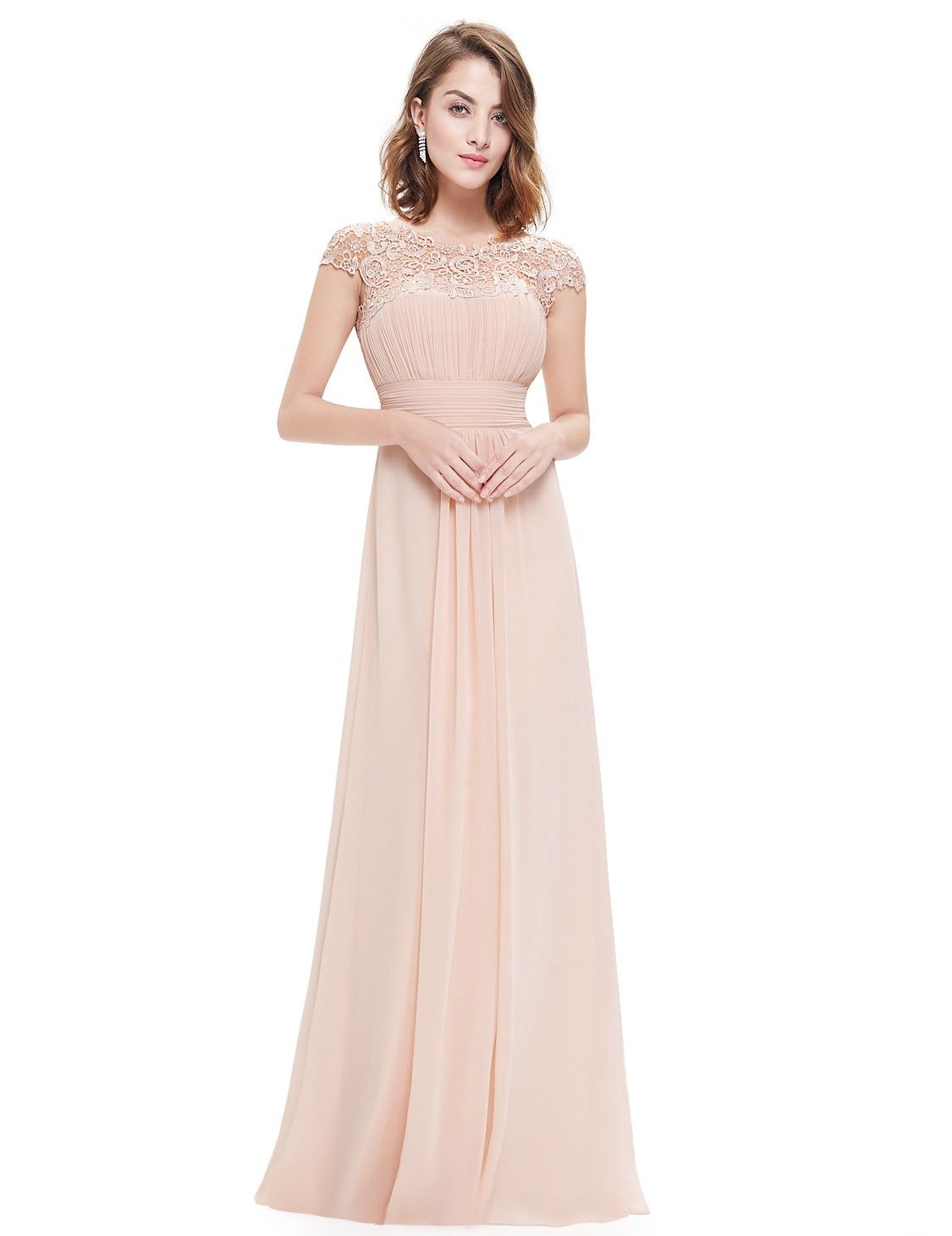 Lace cap sleeve evening gown cap gowns and wedding