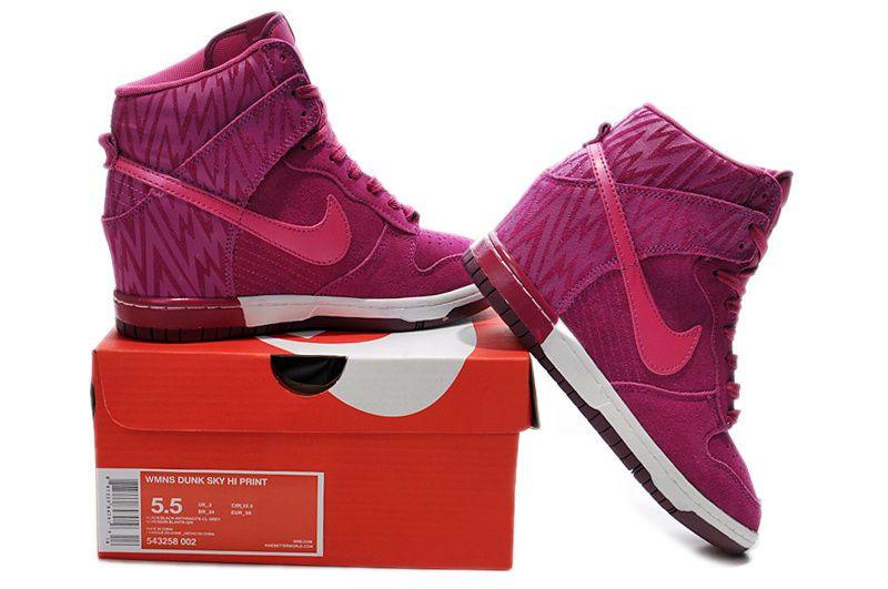 new arrival 1c501 6f006 Nike Dunk Sky High Print Womens Zebra Rose Red Ice White 543258 002