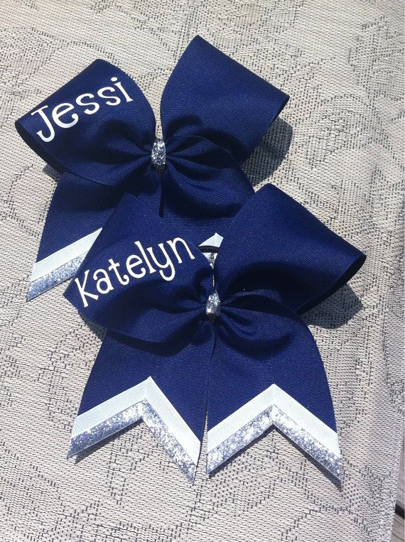 954eef1bbf2b Custom cheer bows personalized with name by CurlyNoodleCreations ...