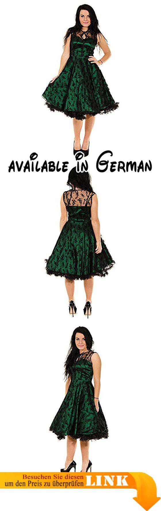 Voodoo Vixen Vintage Retro 50s Party Damen Kleid Satinkleid mit ...