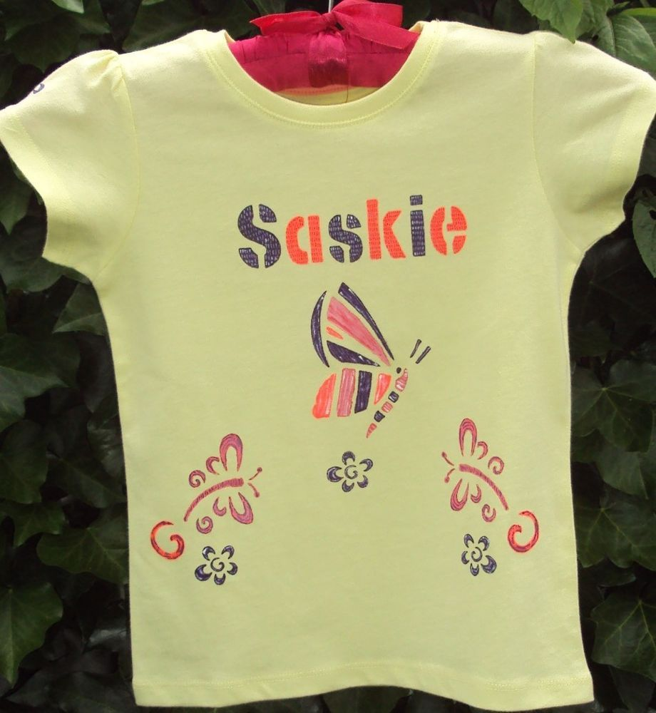 Personalised hand painted T-shirts for kids animals