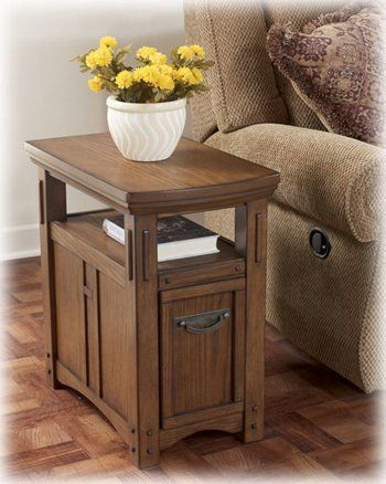 Burnished Brown Chair Side End Table by Ashley Furniture by Ashley