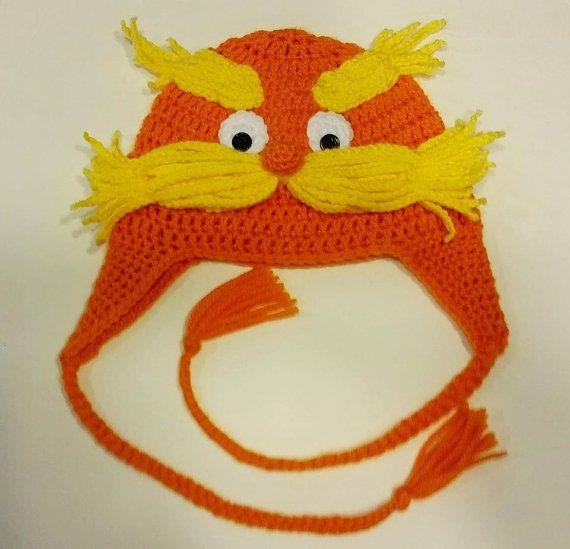 Dr Suess The Lorax Earflap Crochet Hat | Crochet Caps | Pinterest ...