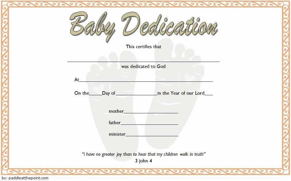 20 Child Dedication Certificate Templates In 2020 Baby