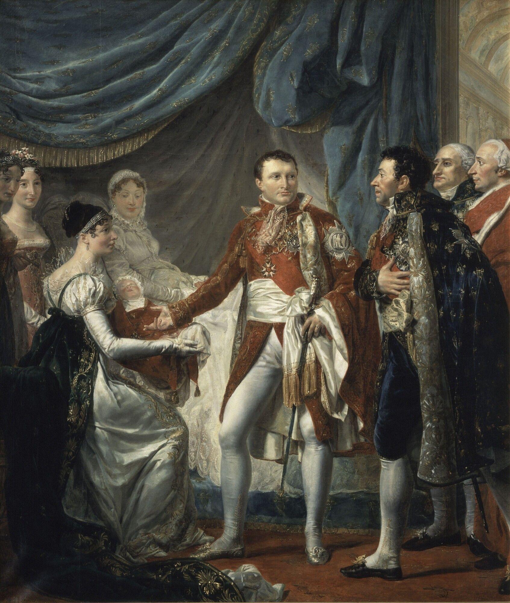 Rouget Napoleon Ier Presente Le Roi De Rome Aux Dignitaires De L Empire 20 Mars 1811 Rome Le Sacre De Napoleon Art