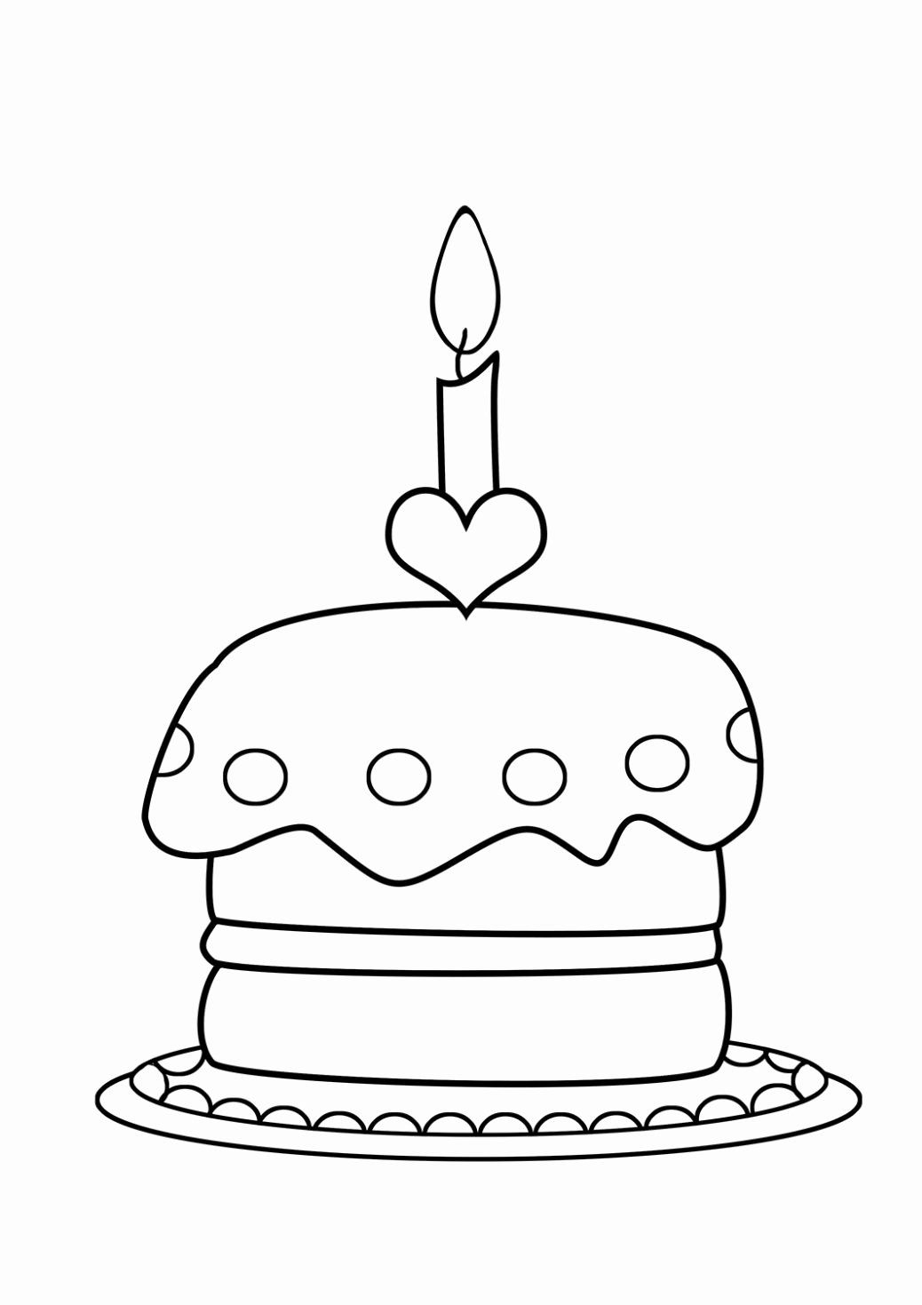 - Birthday Cake Coloring Pages Preschool Beautiful Of Birthday