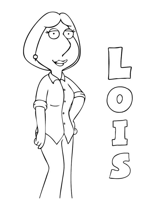 Lois From Family Guy Coloring Page Kids Play Color Coloring Pages Coloring Pages To Print Lois Griffin