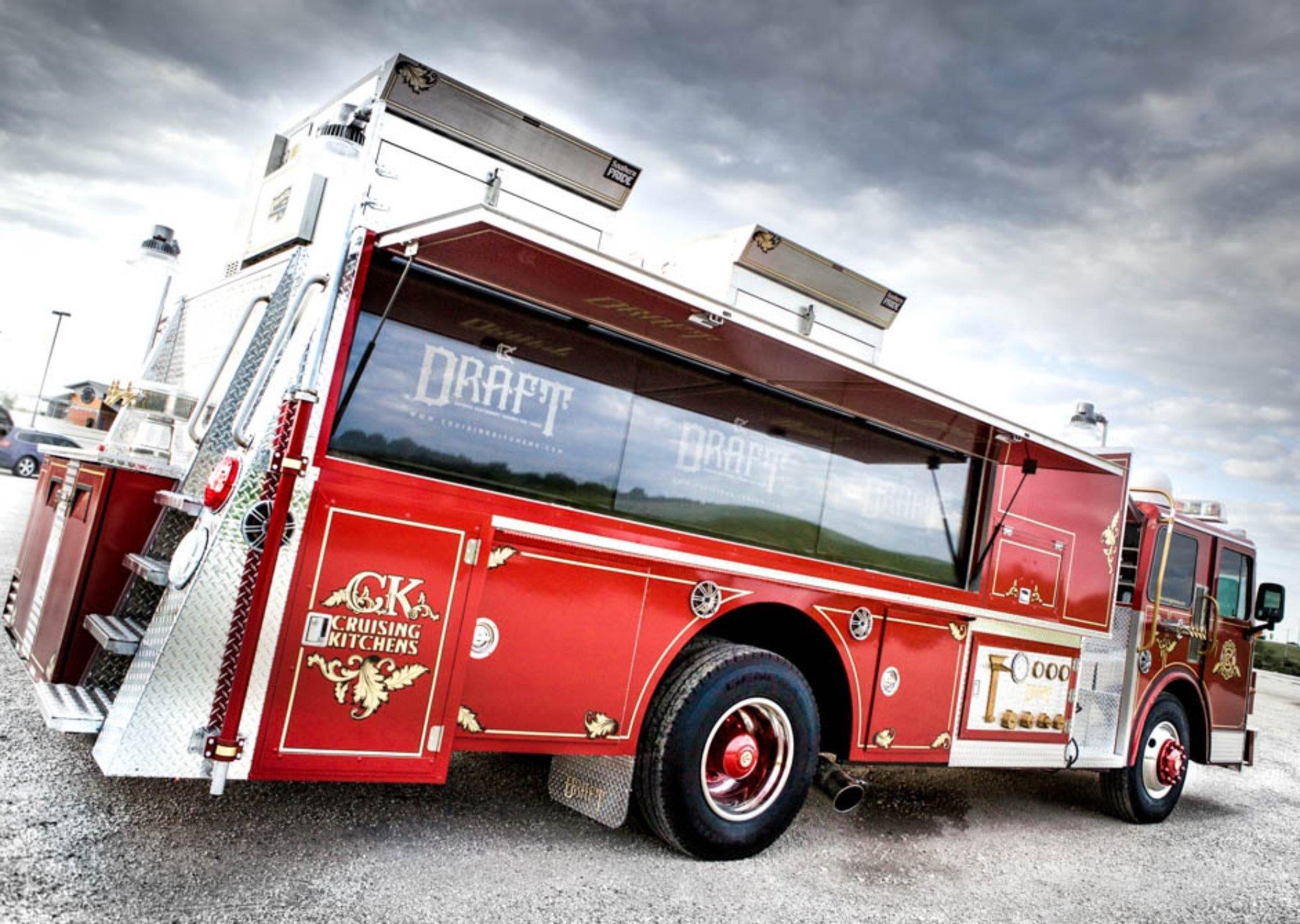 Draft dynamic restaurant aboard fire truck built by