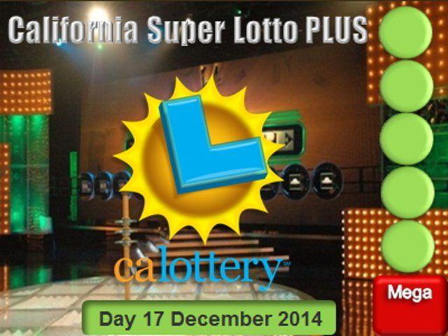California Super Lotto PLUS - Wednesday 17 December 2014