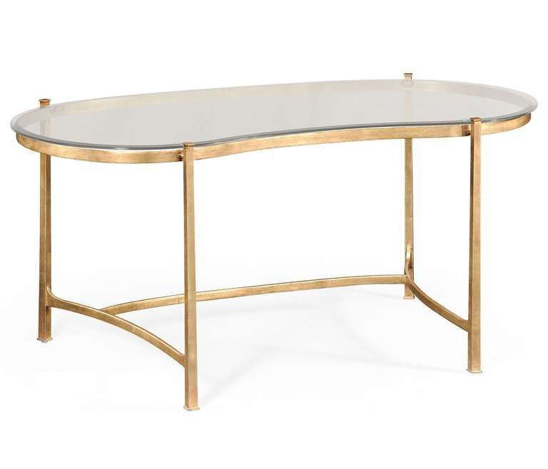 gold and glass kidney desk pinterest desks tables and glass rh pinterest com