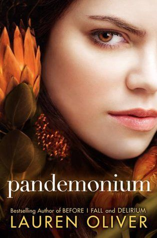 Pandemonium by Lauren Oliver   dystopia    Lauren Oliver delivers an electrifying follow-up to her acclaimed New York Times bestseller, Delirium. This riveting, brilliant novel crackles with the fire of fierce defiance, forbidden romance, and the sparks of a revolution about to ignite.