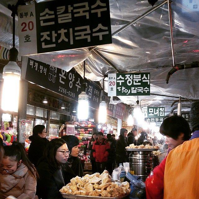 #광장시장 ㅎㅅㅎ 하앍 ㅎ 칼국수랑 손만두국 기다리는즁 ㅎ
