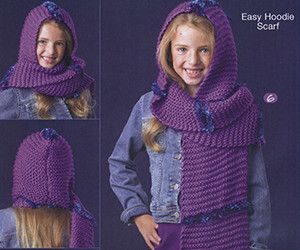 Easy Knitting Child S Hooded Scarf Free Knitting Pattern Free