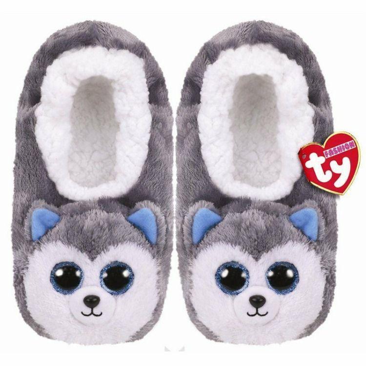 Ty Slush 9 125 L Unstretched 8 5 Slipper Socks Kid S Size Large 4 6 Husky Slippers Fashion Slippers Animal Slippers