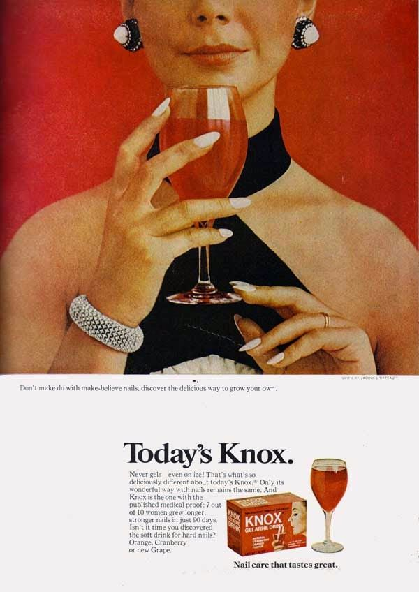 Knox Gelatine for stronger nails. Retro-Ads.net: 1968 Knox Ad | 1 ...