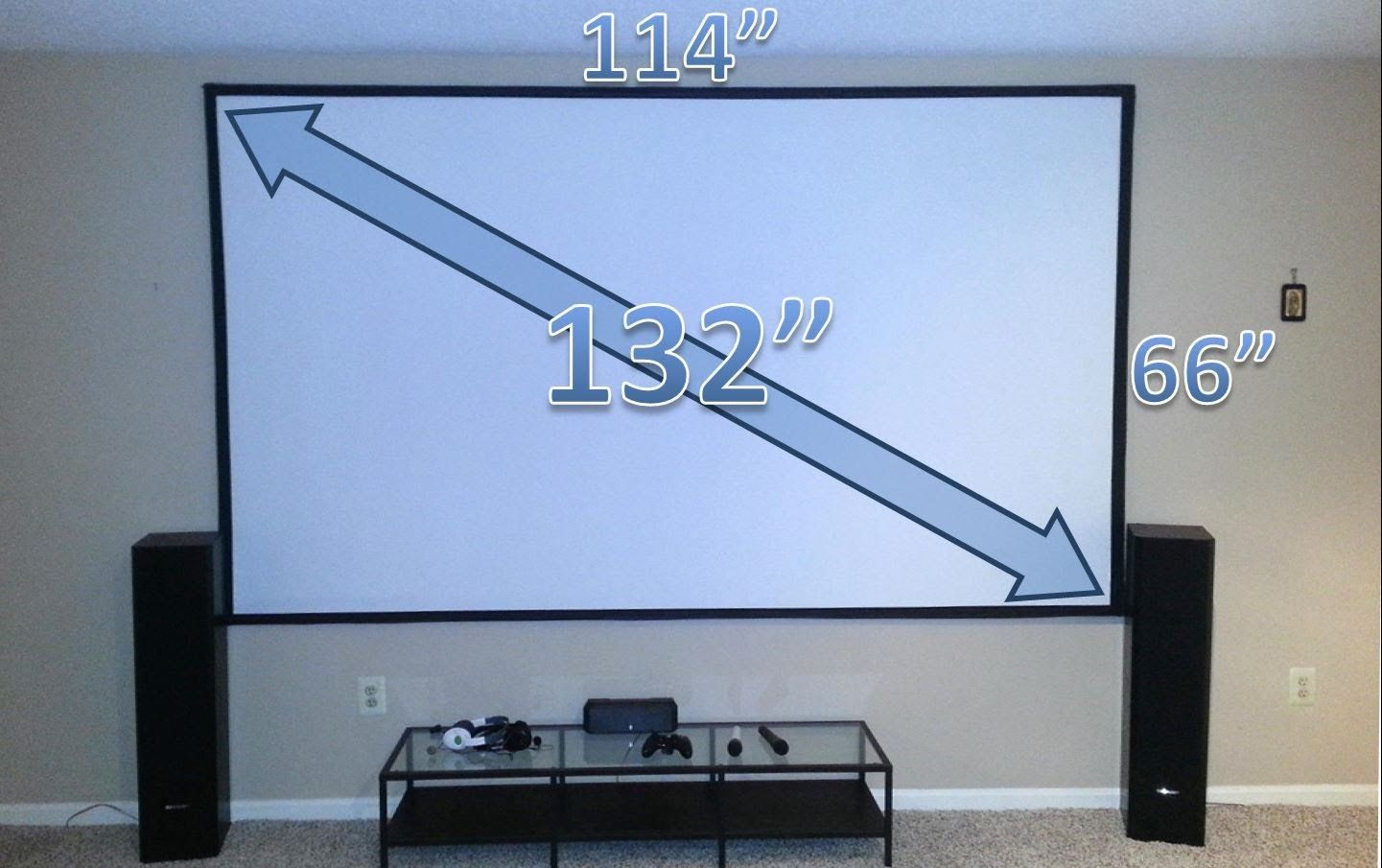 easy steps to build a diy home theater projector screen [ 1441 x 905 Pixel ]