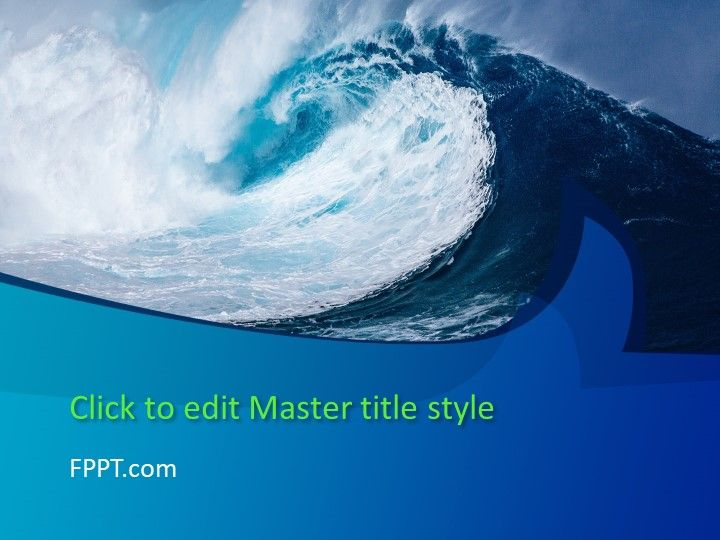 Free Big Wave Powerpoint Template  Free Powerpoint Templates