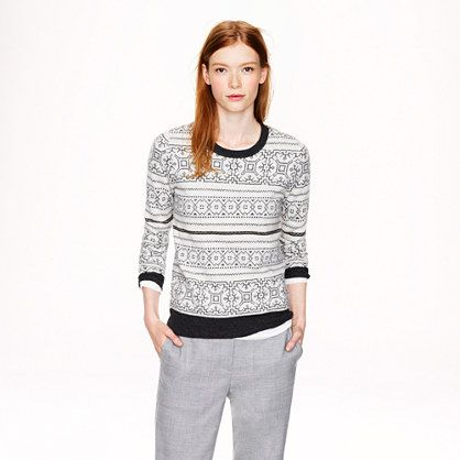 J.Crew - Pre-order Ivory Fair Isle sweater - if only it weren't ...
