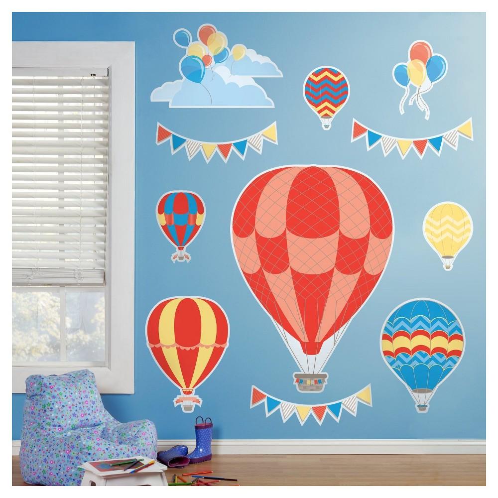Hot Air Balloon Giant Wall Decal, Balloon wall, Wall