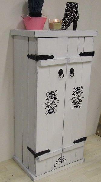 gro er schuhschrank shabby chic unikat von loft99 berlin auf wohnen und. Black Bedroom Furniture Sets. Home Design Ideas