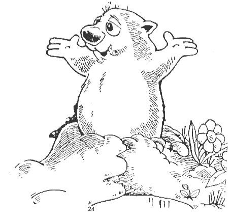 Groundhog Phil Coloring Sheet For Groundhog Day Groundhog Day