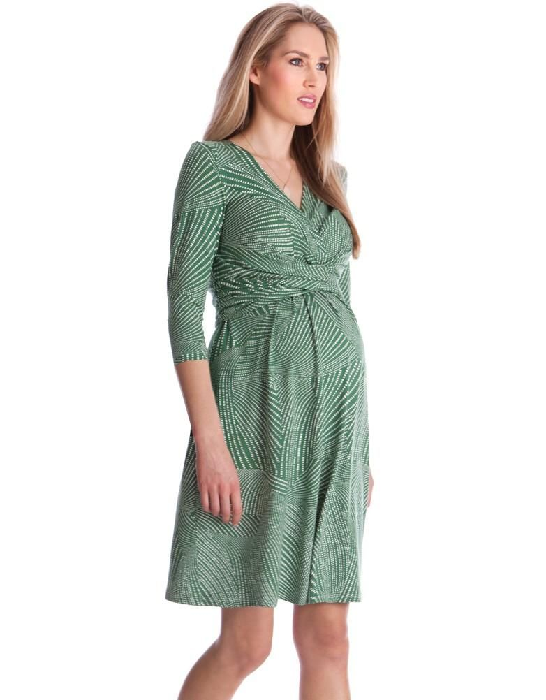 green geo print maternity dress seraphine festive fashion christmas party outfit love maternity style fashionably pregnant style the bump - Christmas Maternity Dresses
