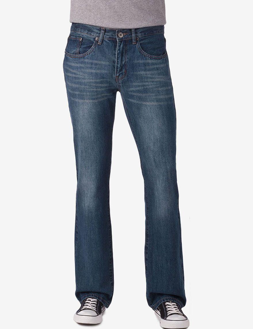 Rustic Blue Light Indigo Slim Straight Denim Jeans Young Men S Denim Jeans Rustic Blue Jeans