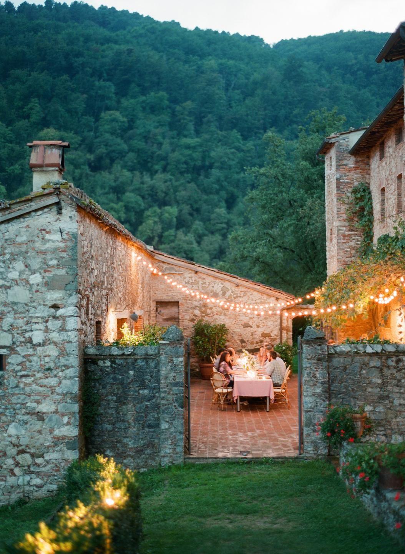 Al fresco intimate wedding reception
