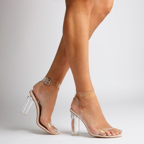 d73780b32bd Ariana Strappy Sandal In Clear Perspex