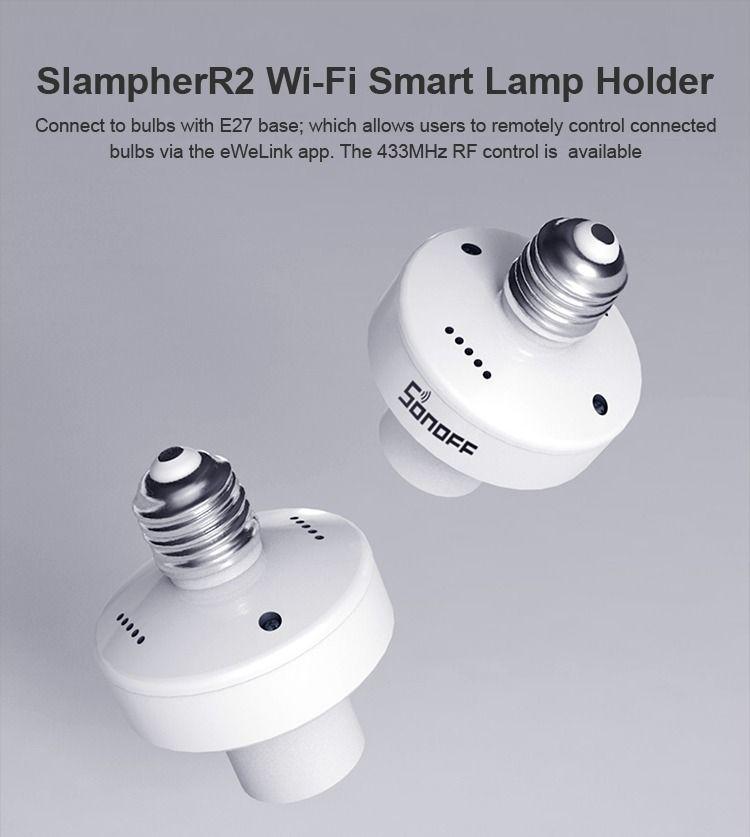 Nuevo Sonoff Slampher R2 La Nueva Generacion Del Casquillo E27 Bombillas Domotica Cascadas