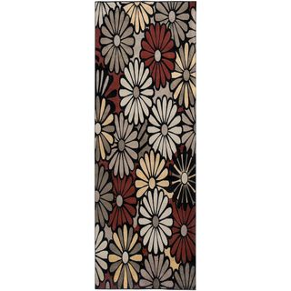 @Overstock - Gibraltar Black Floral Runner Rug (2'3 x 7'7) - The Gibraltar rug collection features a brilliant combination of elegant florals and bold abstract patterns. This runner offers a diverse mix of colors, traditional ornate styling, and highly stylized simple graphics.  http://www.overstock.com/Home-Garden/Gibraltar-Black-Floral-Runner-Rug-23-x-77/8267036/product.html?CID=214117 $62.99