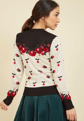 c2578b6f43fd2c Garnish Artist Floral Cardigan | Mod Retro Vintage Sweaters | ModCloth.com