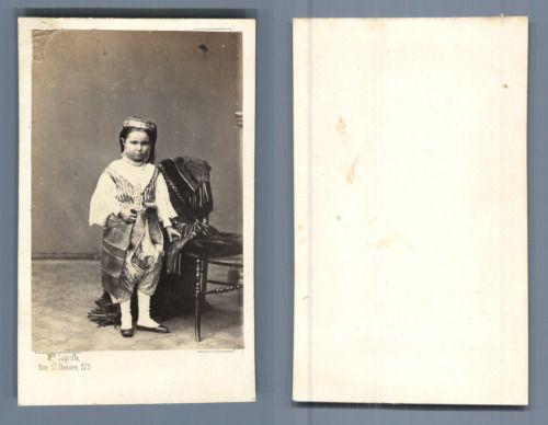Algrie Petite Fille En Costume Vintage CDV Albumen Carte De Visite Ti