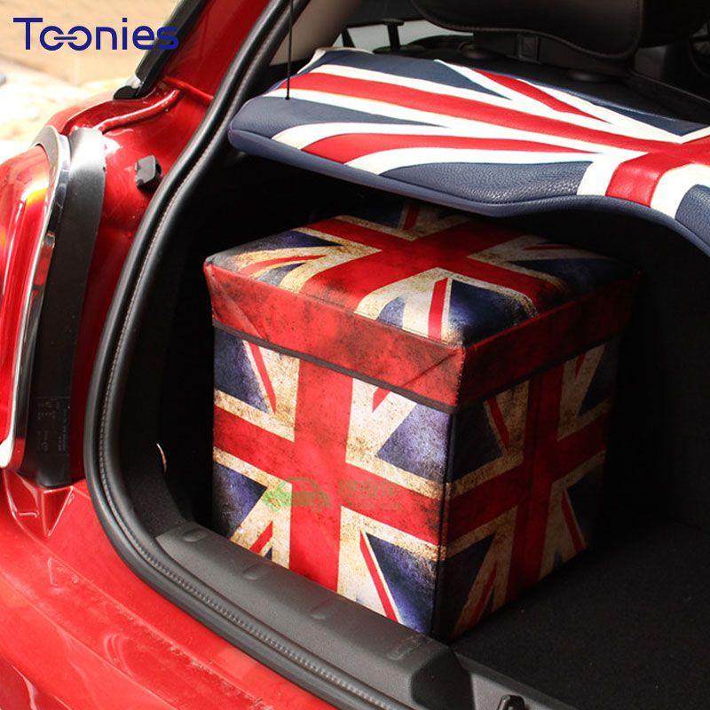 Auto mini storage box back england flag box folding square