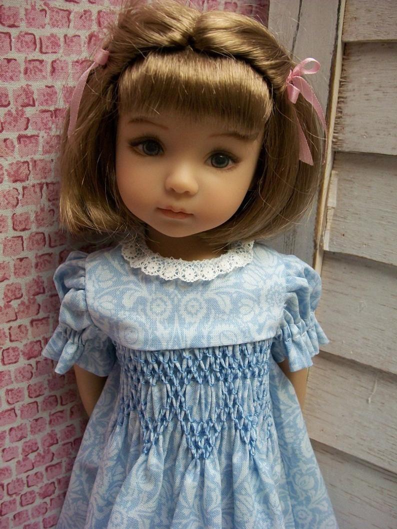"Effner Little Darling NEW Smocking PATTERN for 11/"" 12/"" BJD and 13/"" Bleuette"