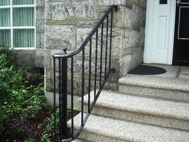 Wrought iron handrail wrought iron railings pinterest - Exterior wrought iron handrails for steps ...