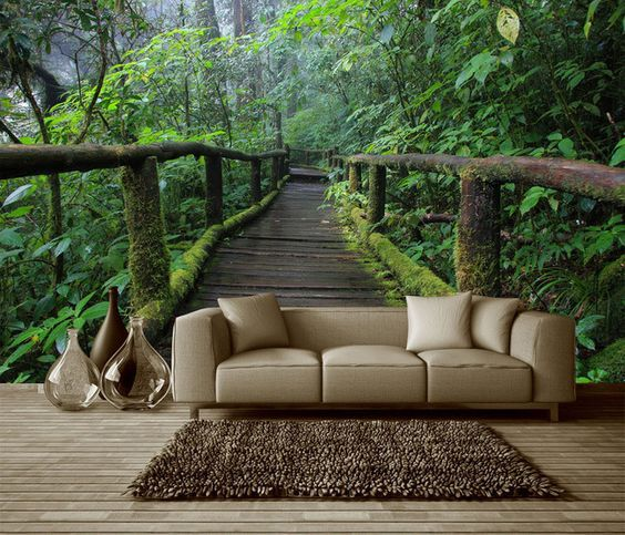 Best Decorate Your Walls By Inviting Nature Wall Wallpaper 400 x 300
