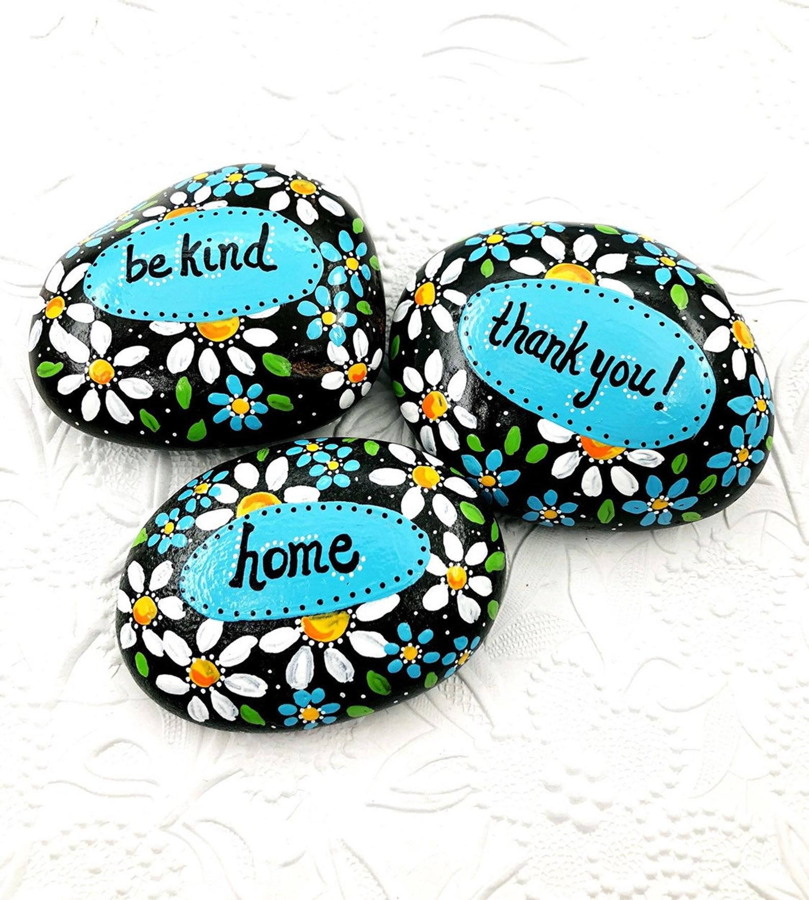 Affirmation Stones, Words of Encouragement Painted Rock