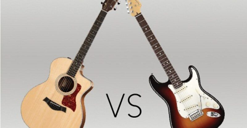 Acoustic Guitar Vs Electric Guitar Comparison Electric Guitar Guitar Acoustic Guitar
